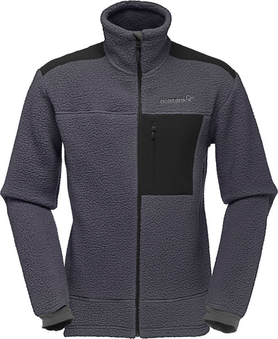 Traditional Fleece jacket in dark gray with black accents that delivers the best warmth to weight ration around