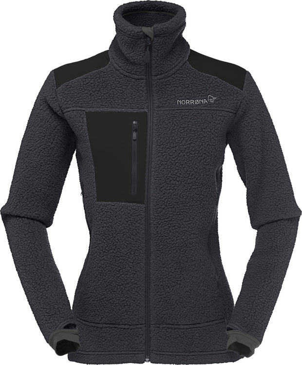 Class fleece zip up in dark gray with black accents perfect for cold weather