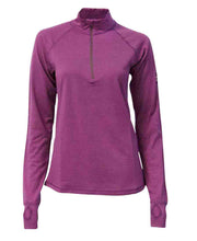 Half Zip merino wool shirt for women by Ivanhoe of Sweden for Aktiv in Lilac Rose.