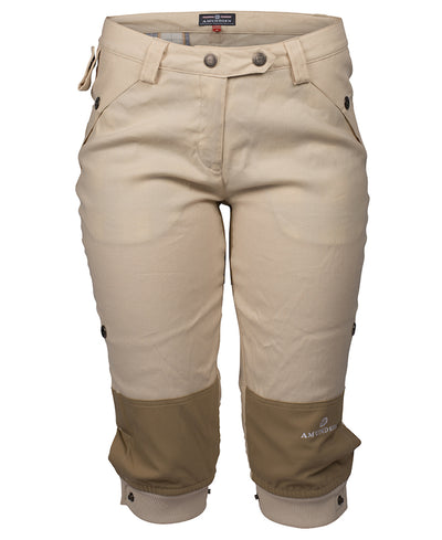 Women's Vagabond Knickerbockers in Desert Sand by Amundsen Sports for Aktiv perfect for hiking in warmer weather front view