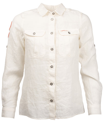 White linen shirt for women by Amundsen Sports