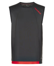 men's black airflow tank by newline for aktiv running clothes front view