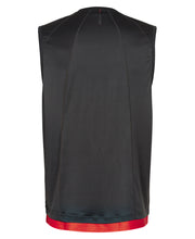 men's black airflow tank by newline for aktiv running clothes back view