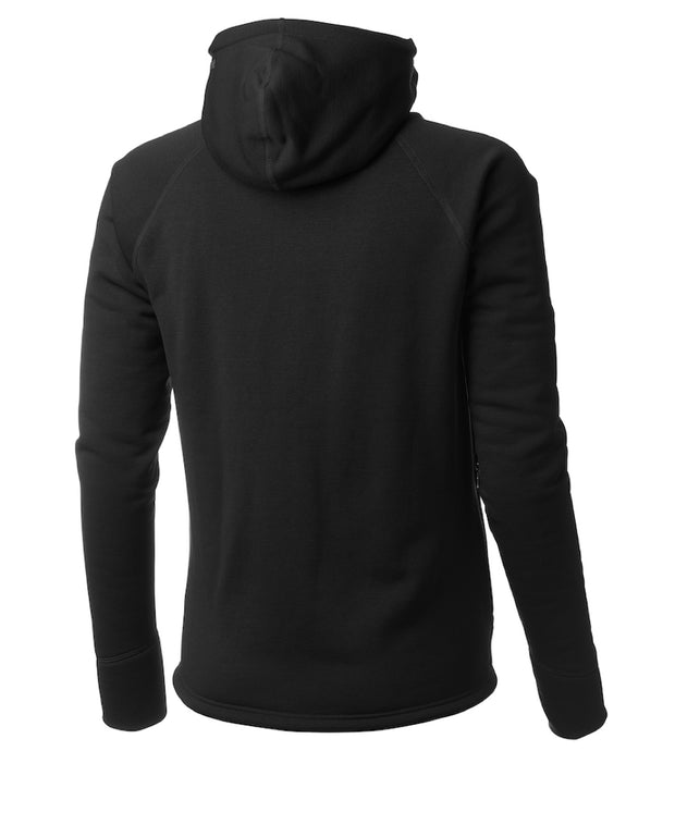 women's power houdie (zip-up hoodie) by houdini for aktiv scandinavian clothing and outdoor wear back view