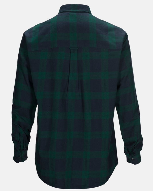 Back view of Green Flannel shirt for men by Peak Performance