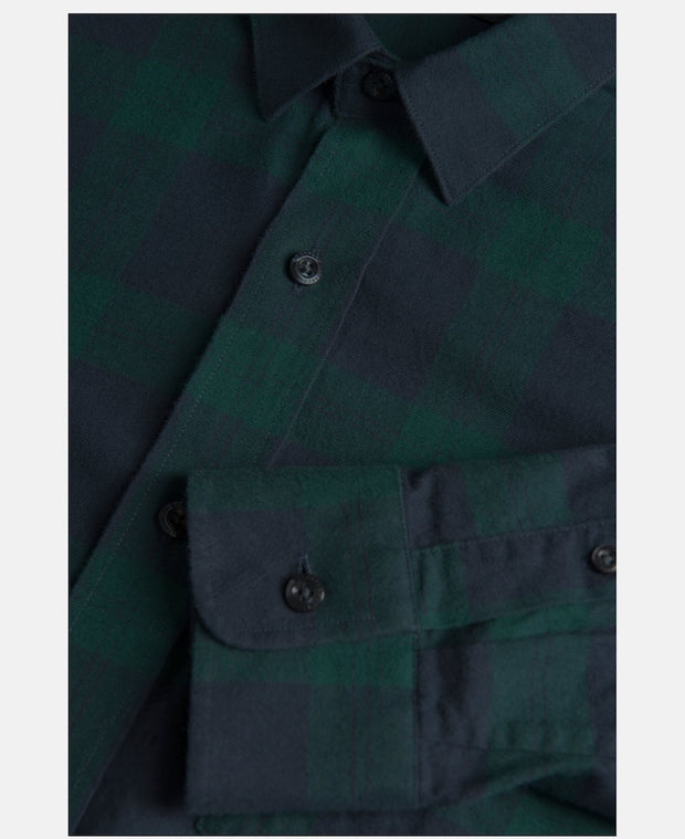 Detail picture of Green Flannel shirt for men by Peak Performance
