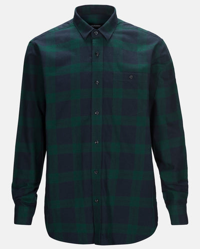 Green Flannel shirt for men by Peak Performance