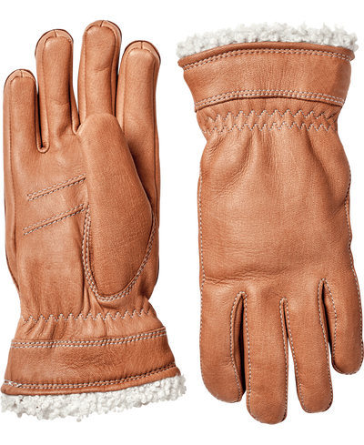 hestra deerskin primaloft gloves in cork available at aktiv