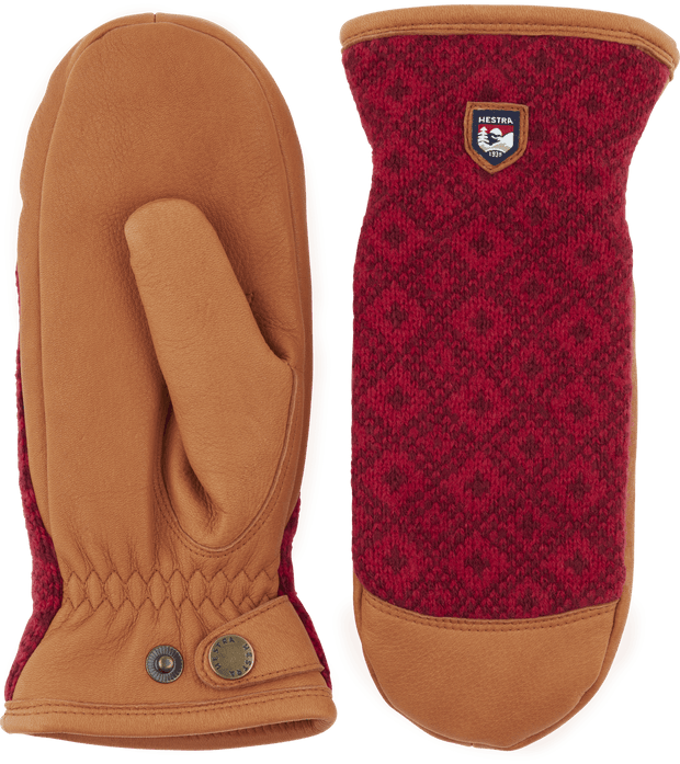 hestra ludvika mitts mittens in red and cork available at aktiv