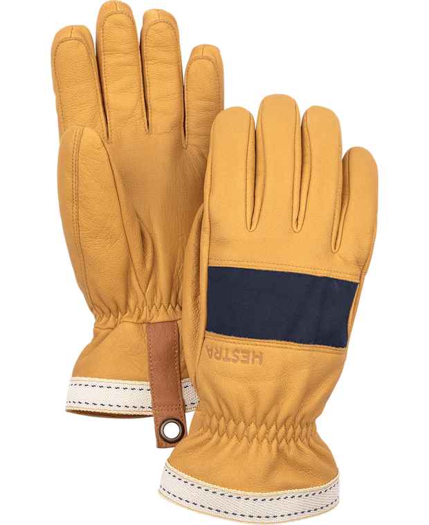 hestra njord gloves in cork and navy available at aktiv