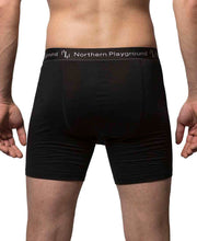 organic wool & silk boxers mens by northern playground for aktiv scandinavian outdoor wear back view