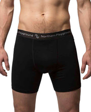 organic wool & silk boxers mens by northern playground for aktiv scandinavian outdoor wear front view