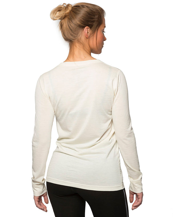 Organic Wool & Silk Long Sleeve Shirt Womens