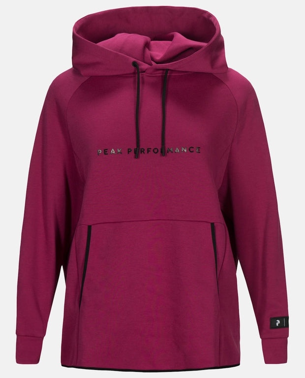 Pink hoodie for women by Peak Performance