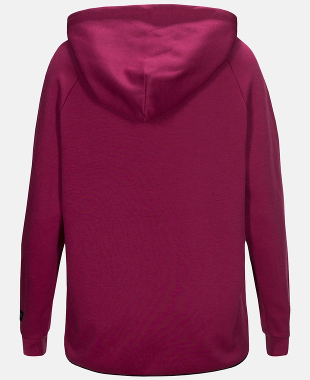 Back view of Pink hoodie for women by Peak Performance