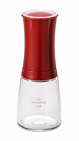 Kyocera Pepper, Salt, Seed And Spice Mill With Adjustable Advanced Ceramic Grinder, Candy Apple Red