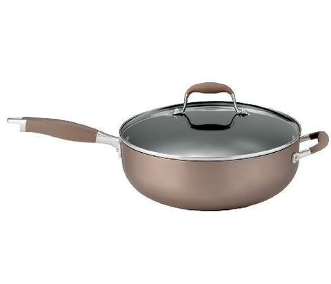 Anolon Advanced Bronze Hard Anodized Nonstick 6-1/2 Quart Covered Chef Pan 83344M
