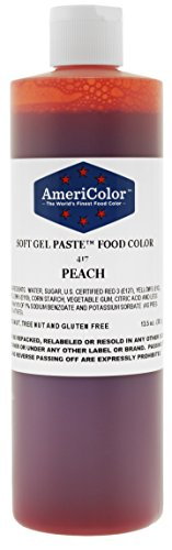 Peach 13.5 Ounce Soft Gel Paste Food Color