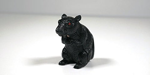 Motion Sensing Black Rat With Red Eyes