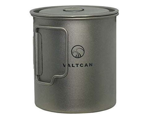 Valtcan Titanium 750Ml Pot For Camping Coffee Tea Backpacking Hiking Bushcraft Survival Gear Fire Mug Cup Camping Cooking Cookware Lid And Stuff Sack