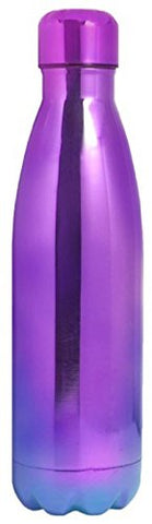 Wellness Insulated Electroplated Finish Double Wall Vacuum Sealed Stainless Steel Water Bottle, 25 Oz, Purple