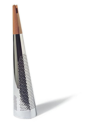 Alessi Todo Giant Cheese And Nutmeg Grater In Steel And Wood, Silver