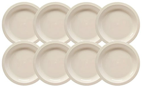 Set Of 8 White Microwavable Plastic Plates - 10 Inch Black Duck Brand (8)