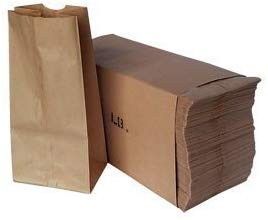Paper Lunch Bags, Paper Grocery Bags, Durable Kraft Paper Bags, Bags (Brown, 4)