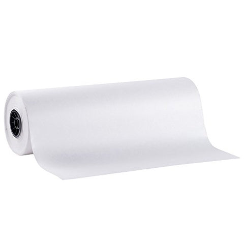 Safepro Ww15, 15-Inch White Wet Wax Butcher Food Paper, Wrapping Disposable Steak Meat White Paper, 1000-Feet Roll