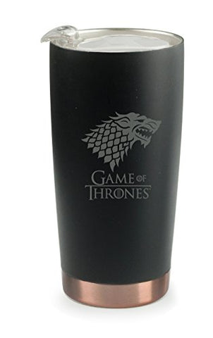 Game Of Thrones Asobu Gladiator Tumbler High Performance Double Walled Insulated Stainless Steel Travel Coffee Mug - Large 20 Oz Coffee Cup Stark