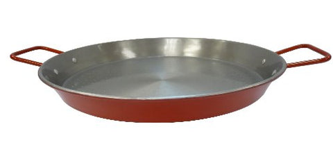 Imusa, Car-52031T, Non-Coated Paella Pan, 15-Inch, Red