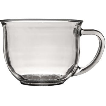 1 X Large Clear Coffee, Tea Or Soup Mug, 18 Oz. By Greenbrier