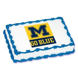 Ncaa University Of Michigan ~ Edible Cake Image Topper