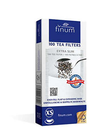 Finum 100 Tea Filters, Extra Slim