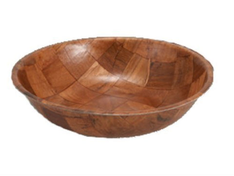 Winco Wwb-12 Wooden Woven Salad Bowl, 12-Inch, Set Of 4