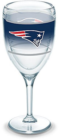 Tervis 1292834 Nfl New England Patriots Original Wine Glasses 9 Oz Clear