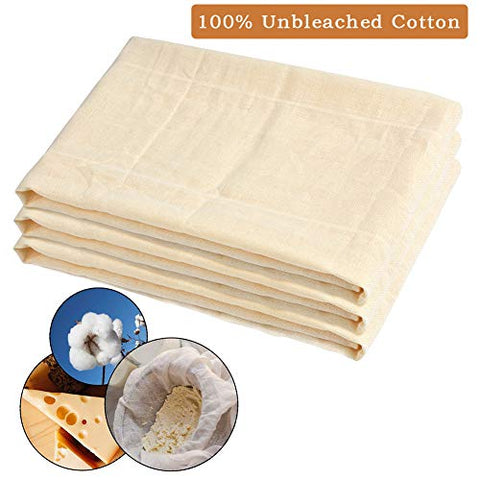 Atpwonz Cheesecloth 100% Unbleached Cotton Fabric 39 Sqft Ultra Fine Cheesecloth For Cheesemaking Cooking-Nut Milk Bag, Strainer Filter (3 Pack, 3 Yards)