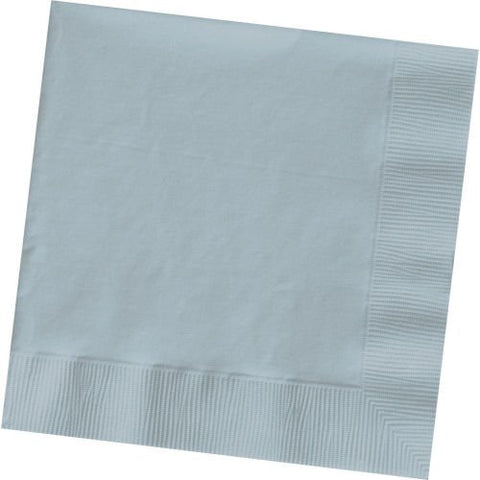 Beverage Size Napkins, Silver Grey, 9 7/8In X 9 7/8In