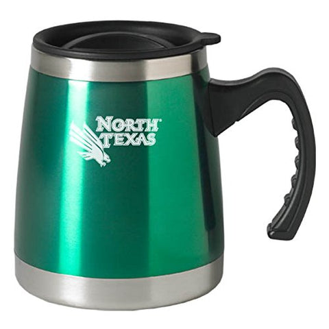 University Of North Texas - 16-Ounce Squat Travel Mug Tumbler - Green
