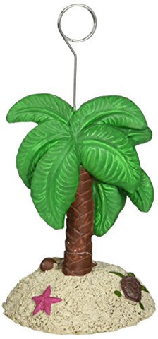 Palm Tree Photo/Balloon Holder Party Accessory (1 Count)