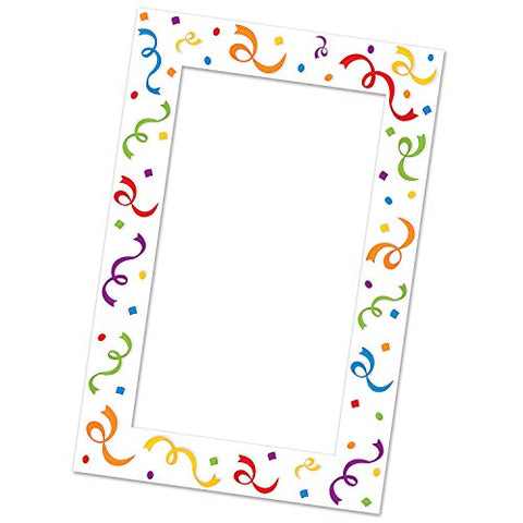Beistle Serps And Confetti Photo Fun Frame, 15.5  X 23.5 , Multicolor