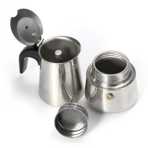 Wiwanshop 2 Cup Stainless Steel Percolator Stove Top Coffee Maker Pot
