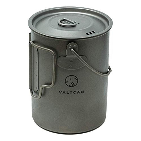 Valtcan 900Ml Titanium Pot Backpacking Camping Open Fire Mug Cup 34 Fl Oz With Lid And Stuff Sack
