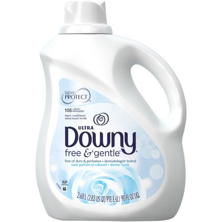Ultra Downy Free & Gentle Liquid Fabric Conditioner For Sensitive Skin, 90 Fl Oz