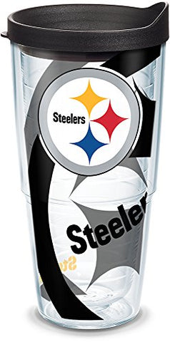 Tervis 1290792 Nfl Pittsburgh Steelers Tumbler With Lid 24 Oz Clear