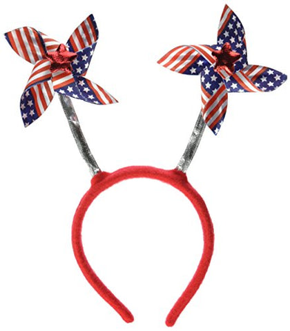 Patriotic Pinwheel Boppers (Stars & Stripes Design) Party Accessory  (1 Count) (1/Pkg)