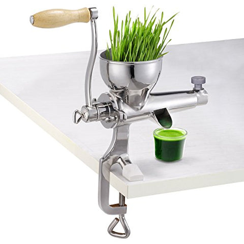 Heavy Duty Hand Manual Wheatgrass Juicer, Stainless Steel Leafy Green Juicer