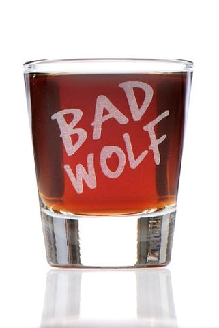 Bad Wolf: Dr. Who Inspired Shot Glass