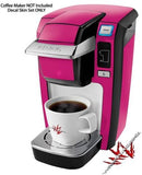 Solids Collection Hot Pink (Fuchsia) - Decal Style Vinyl Skin Fits Keurig K10 / K15 Mini Plus Coffee Makers (Keurig Not Included)