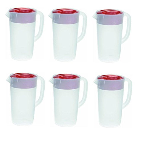 Rubbermaid - Covered Pitcher 2.25 Qt - White With Red Cover